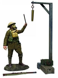 "WB23115 ""Gas Alarm"" British Soldier with Gas Mask Sounding Alarm 1917-18"